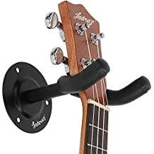 Juarez JRZ100 Guitar Wall Hanger / Mount / Holder / Hook / Stand / Rack For Acoustic / Electric / Bass Guitars, With Fittings/Accessories, Black