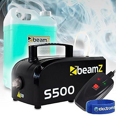 beamz Smoke Machine Fog Mist Haze Hazer Effect, 5L Fluid DJ Disco Halloween PK3