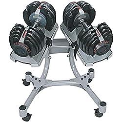 SET 2 Mancuernas Profesional ajustables de 24 kg. 552 con soporte
