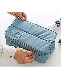 Vmore Travel Handle Divided Underwear Socks Undergarments Waterproof Pouch Organizer Bag Packing