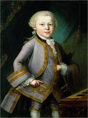 Posterlounge Forex-Platte 100 x 130 cm: Der Junge Wolfgang Amadeus Mozart in Hofkleidung. 1763 von...