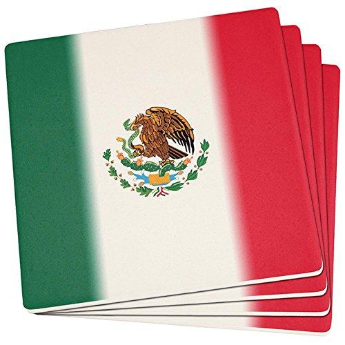 nische Fahne Satz von 4 quadratischen Sandstein-Achterbahnen Multi Standard eine Größe (Cinco De Mayo Getränke)