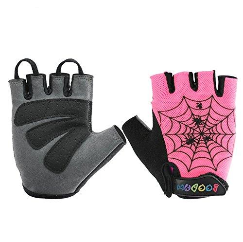 Qiu Ping Spider Web 6bis 12Jahren Outdoor Sports Handschuhe Rutschfest Einheitsgröße rose