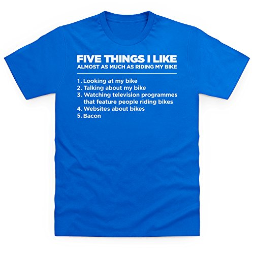Five Things I Like - Bike T-Shirt, Herren Royalblau