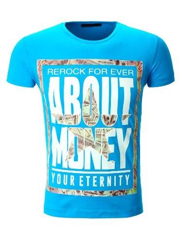 Herren Print Shirt About Money Dollar Cash von ReRock schwarz Türkis