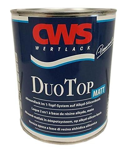 CWS CD Color Duo Top Matt, 0,75 L weiss, Matter Allroundlack auf Alkyd-Silikon-Basis. Lösemittelbasiertes Ein-Topf-System zur Grund- und Decklackierung im Innen- und Außenbereich.