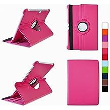 COOVY® SMART FUNDA 360º GRADOS ROTACIÓN PARA SAMSUNG GALAXY TAB 10.1 N GT-P7500 GT-P7501 GT-P7510 GT-P7511, TAB 2 10.1 GT-P5100 GT-P5110 COVER CASE PROTECTORA SOPORTE color rosa fuerte