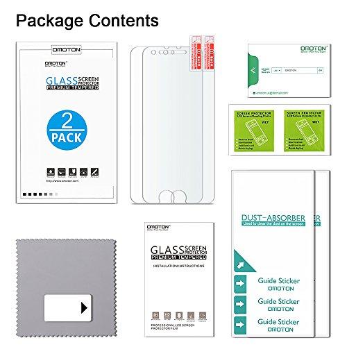 [2 Stück] OMOTON Panzerglas Displayschutzfolie für iPhone 6s und iPhone 6, 9H Härte, Anti-Kratzen, Anti-Öl, Anti-Bläschen, lebenslange Garantie - 8