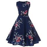 ITISME Damen Ärmelloses Beiläufiges Strandkleid Sommerkleid High Waist Lang Kleid Partykleid (M, Grau)