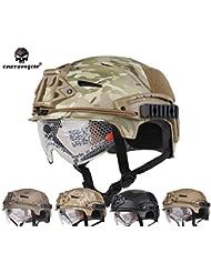 Emerson - Casco táctico EXF BUMP, de diseño militar, con gafas, para Airsoft, FG