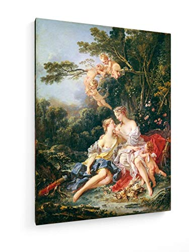 Boucher - Diana und Calypso - 60x80 cm - Leinwandbild auf Keilrahmen - Wand-Bild - Kunst, Gemälde,...
