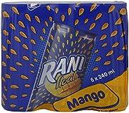 راني شراب المانجو مع قطع الفاكهة الحقيقية في العلبة، 240 مل، 6 علب