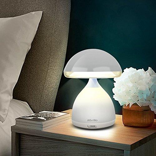 AlbrilloMulticoloreLampedeChevetsansfil,LampeAmbiancedeco, LampeTactileDesign, 7 Changements de couleur