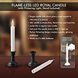 PartyHu TFlameless LED Flickering Candle Light With Stand Set Of 6pc