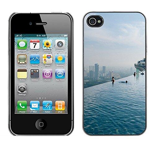 Graphic4You Hong Kong Postkarte Ansichtskarte Design Harte Hülle Case Tasche Schutzhülle für Apple iPhone 4 und 4S Singapore #3