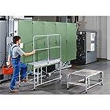 QUIPO Universal-Plattform - mit 2 Rollen - 3 Stufen, Plattform-BxT 900 x 600 mm - Arbeitsbühne Arbeitsplattform Arbeitspodest Fahrbare Arbeitsbühne Fahrbare Arbeitsbühnen Fahrbare Arbeitsplattform Fahrbare Arbeitsplattformen Klapptritt Mobile