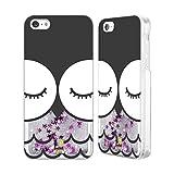 Head Case Designs Gufo Olwyn Facce Di Animali Cartoon Custodia Cover con Glitter Liquidi Argento per Apple iPhone 5c