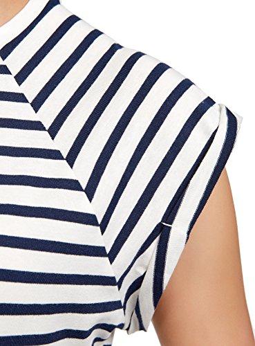 oodji Ultra Donna T-Shirt in Cotone Basic Bianco (1279S)