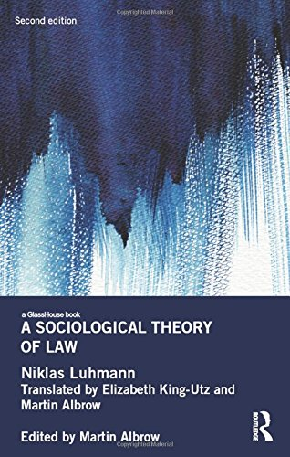 A Sociological Theory of Law (Glasshouse Books)