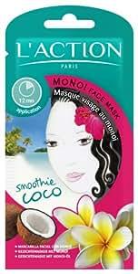 L'Action Paris Masque Visage au Monoï Lot de 3