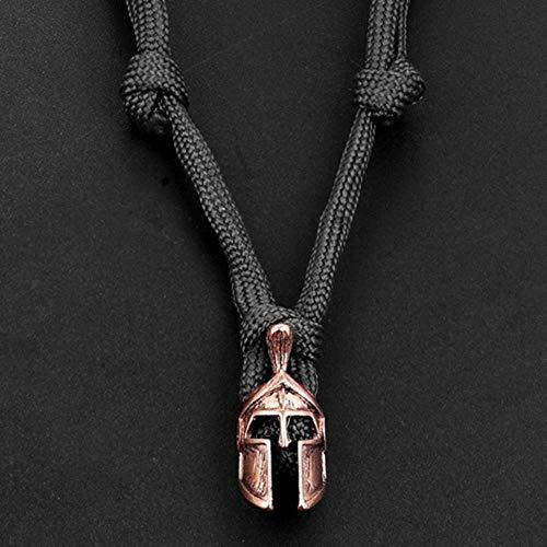 KLKL CollarCasco deHombreParaguas Collar de Cuerda Accesorios de Vestuario Cráneo Collar de Nylon Collar
