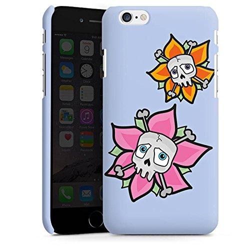 Apple iPhone X Silikon Hülle Case Schutzhülle Blume Totenkopf Skull Premium Case matt