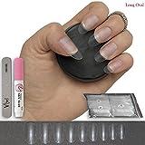 100Stück lang klar Oval Nägel 10Größen–geeignet für Salon & DIY Nail Art–♥ inklusive Kleber ♥ & ♥ klein Prep Datei ♥