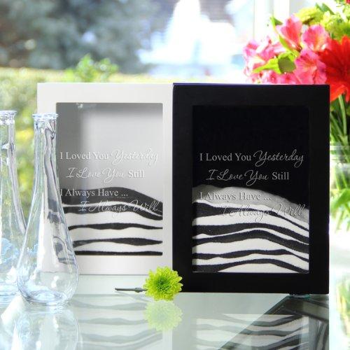RaeBella Weddings & Events New York Hot Verkäufer Personalisierte * Love Collection * Sand Zeremonie Shadow Box Set (Immer Zitat, Schwarz)