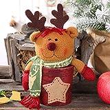 Pralinenschachtel Parteien Home Decoration Supplies Urlaub Saisonale Weihnachten, QHJ Deko Weihnachten Kreativer Hölzerner Schneemannanhängercharme des Alten Mannes (B)