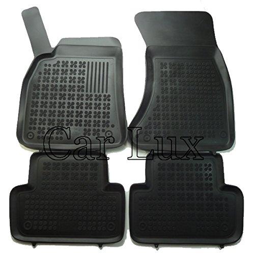 Car Lux NAR02106 - Alfombras Alfombrillas de goma a medida tipo cubeta 3D borde alto