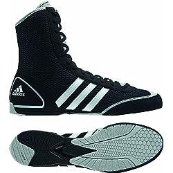 Adidas Schuhe Box Rival II - Calzado de boxeo, Negro (Black/Grey), 4 UK