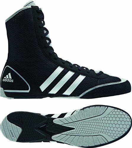 adidas Schuhe Box Rival II, black/light onix/running white, 5.0, G62604