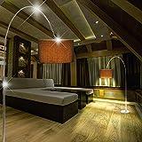 MIA Light Schirm Bogen ↥2270mm/ Klassisch/ Stoff/ Schwarz/ Textil/ Steh Bogenlampe Bogenleuchte Schirmlampe Schirmleuchte Standlampe Standleuchte Stehlampe Stehleuchte Stofflampe Stoffleuchte