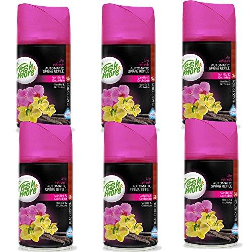 6x Fresh & More Vanille & Orchidee Passend Für Automatische Duftspender, 250ml