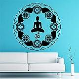 Indio Circular Mandala patrón Om símbolo Pegatinas de Pared Sala de Estar extraíble...