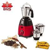 #4: BMS Lifestyle Turbo TM-01 750-Watt Mixer Grinder with 3 Stainless Steel Jars , Black & Red