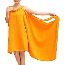Wearable Duschtuch, Tezoo Microfaser Weich Saugfähig Handtuch Badetuch Bademantel Spa Strand Schwimmen Sport Mädchen Damen verschiedene Farben 155 x 85cm