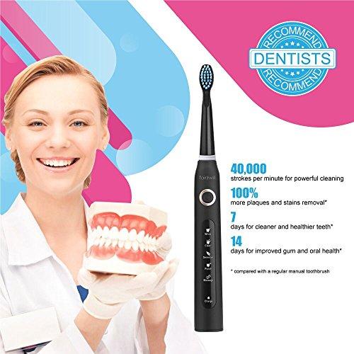Cepillo dental eléctrico fairywill recarga ble