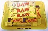 Raw Mini-Tablett, Bio, Zinn, Zigarettenpapier, Zigarettenspitzen, Bambus-Matte, Rauchen-Set, Geschenk für Sie oder Ihre Lieben