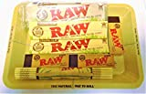 RAW–Juego de mini alfombrilla de puntas de lata, papeles,, bambú orgánica de fumar, bandeja para un regalo perfecto para usted o Sus Seres Queridos–se vende por Trendz