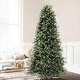 Balsam Hill Norwegische Fichte Künstlicher Weihnachtsbaum, 180 cm, weiße LED-Leuchten