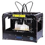 3D-Drucker (Schwarz) Personal Protable Desktop 3-D-Drucker Rapid Manufacturing Systeme 3D-Modelle 3D Drucker Bausätze mit SD Karte (enthalten 1x 1.75mm 1kg/2.2lb ABS Filament)