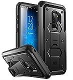 i-Blason Samsung Galaxy S9 Plus Hülle, [Armorbox] Handyhülle Bumper Case Stoßdämpfung Schutzhülle Heavy Duty Cover mit Ständer OHNE Schutzfolie für Samsung Galaxy S9 + Plus 2018, Schwarz