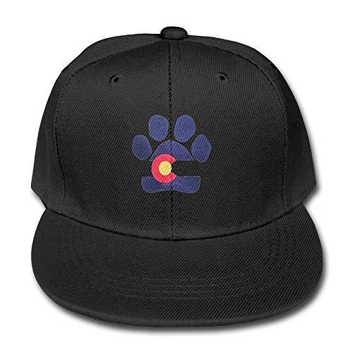 UUOnly Normallack-Baseballmütze-Tatzen-Muster-Colorado-Flagge für Jungen-Mädchen justierbare Hüte -