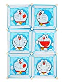 #6: Baby Grow Wardrobe Organizer Rack for Kids Shelf Storage Cabinet (6 Doors-Blue Cartoon)