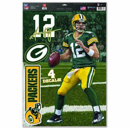 Originales NFL Green Bay Packers Aufkleber-Bogen-Set