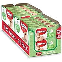 Huggies Lingettes bébé Natural Care à l'Aloe Vera x 10 - Lot de 2