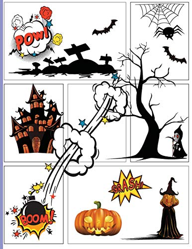 Blank Comic Book Next Generation Trick or Treat Halloween Gift: A large Big 8.5