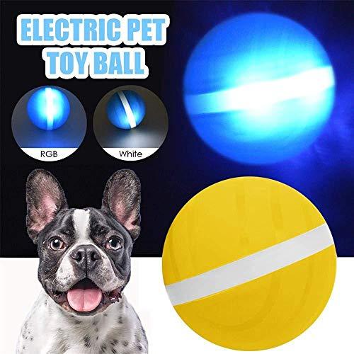 Volwco USB-elektrischer Haustier-Ball, LED-Blinkball für Haustiere, magischer