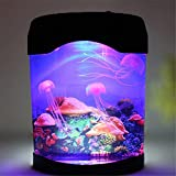 SENYANG LED Nachtlicht Lampe LED Quallen Behälter Meer Weltschwimmen, romantischer LED Nachtlicht Projektor, bestes Geschenk für Kinder (Bunt)